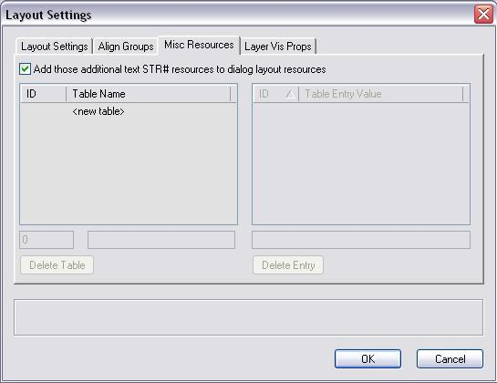 Dialog Layout Settings Dialog - pane 3