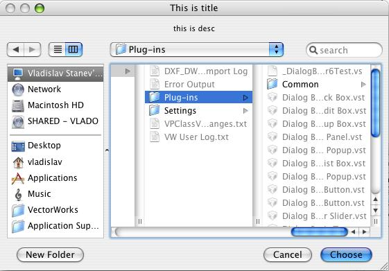 Folder chooser for Mac