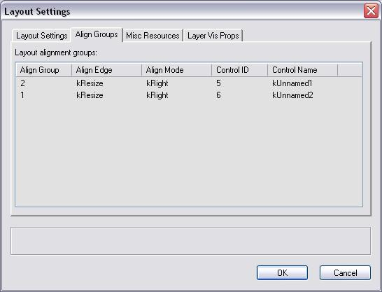 Dialog Layout Settings Dialog - pane 2